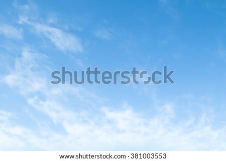 cirrus clouds on a blue cloud #381003553