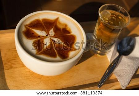 The coffee Latte Milk Day. #381110374