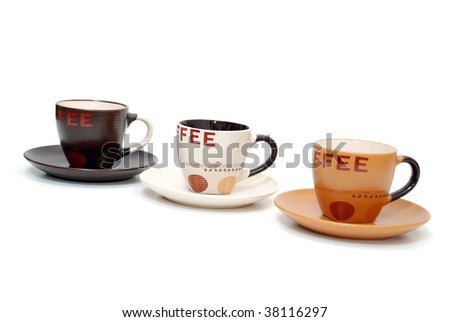 Coffee Cups isolated on white background #38116297
