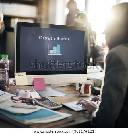 Growth Status Data Development Business Concept #381174121