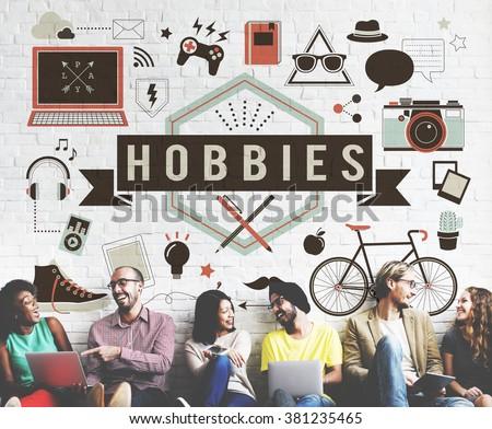 Hobbies Activity Amusement Freetime Interest Concept Royalty-Free Stock Photo #381235465