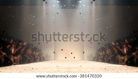 Fashion runway out of focus,blur background  #381470320