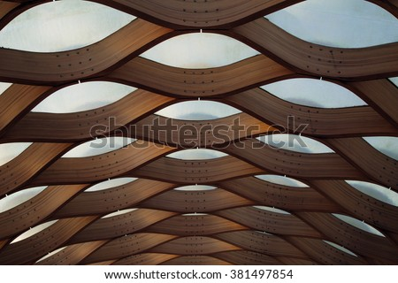 Architecture detail in Chicago  Royalty-Free Stock Photo #381497854