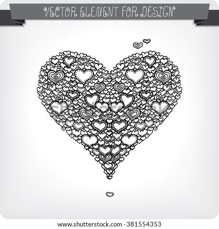 Heart. Vector art. #381554353