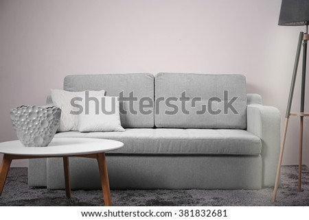 Modern furniture in the room #381832681