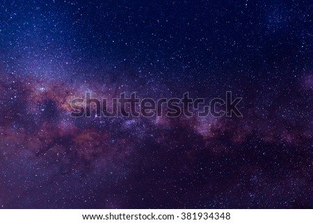 Milky way galaxy with star and space dust in the universe and deep planet night sky background.