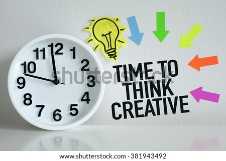 Time To Think Creative #381943492