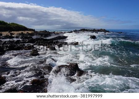 Rocks and Natural rock pools, Maui, Hawaii #381997999
