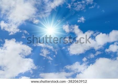 blue sky and sun #382063912