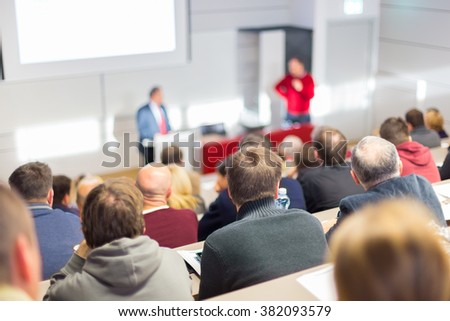 Speaker at Business Conference and Presentation. #382093579