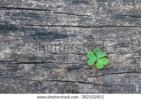St Patrick's day background with shamrock clover leaf, Irish festival symbol