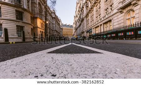 Typical London street, England #382162852