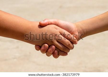 children holding hands #382173979