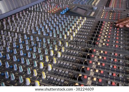 Pro mixing pult at a recording studio #38224609