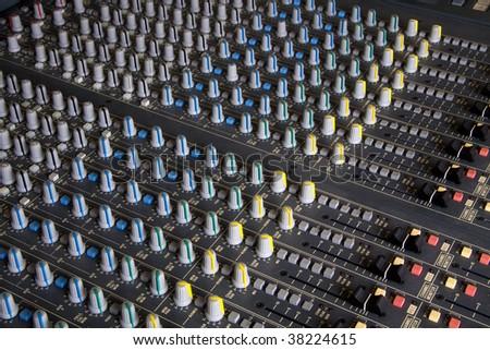 Pro mixing pult at a recording studio #38224615