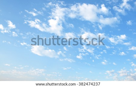 The vast blue sky and clouds sky #382474237