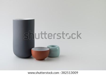 ceramic ware on white background #382513009