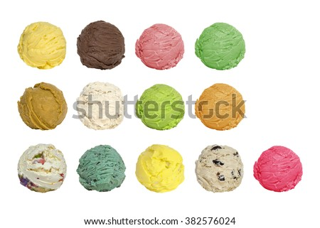 ice cream scoops 13 scoop #382576024