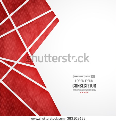 Abstract geometric background with polygons. Info graphics composition with geometric shapes.Retro label design. Vector illustration for business presentation Royalty-Free Stock Photo #383105635