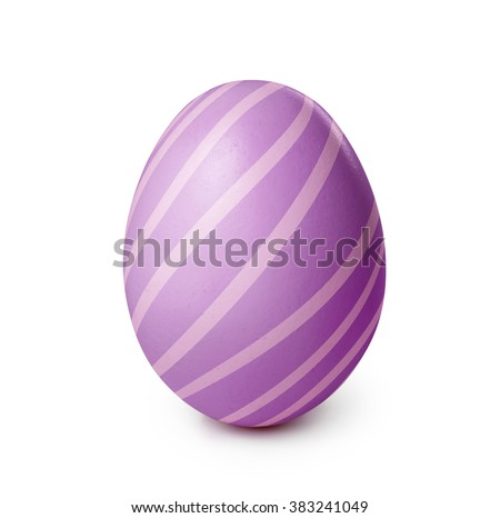 Easter egg isolated on a white background. Clipping path included #383241049