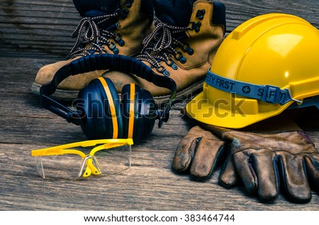 Standard construction safety Royalty-Free Stock Photo #383464744