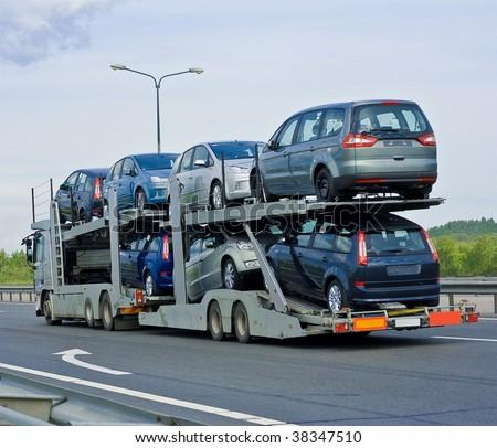 car carrier truck #38347510