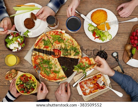 Family eating #383509552