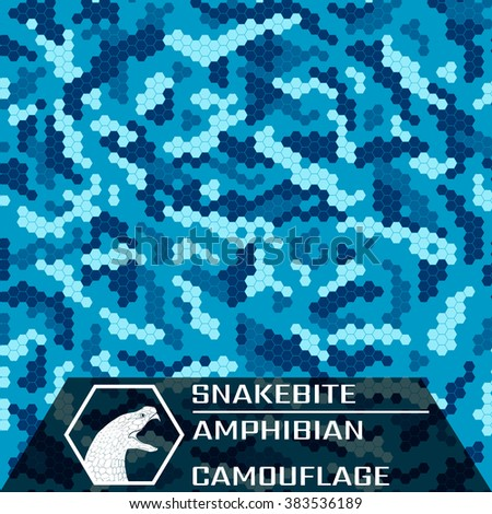 Snakebite. Amphibian. Hybrid camouflage for marine and urban environments.