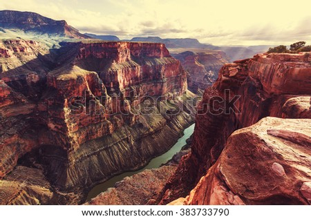 Picturesque landscapes of the Grand Canyon #383733790