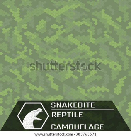 Snakebite. Reptile. Texture for green enviroment. Seamless Pattern.