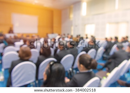 Blur of business Conference and Presentation in the conference hall. #384002518
