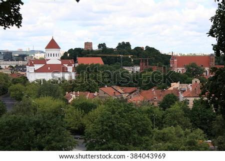 Beautiful views of Capitel of Lithuania, Vilnius, year 2008 #384043969