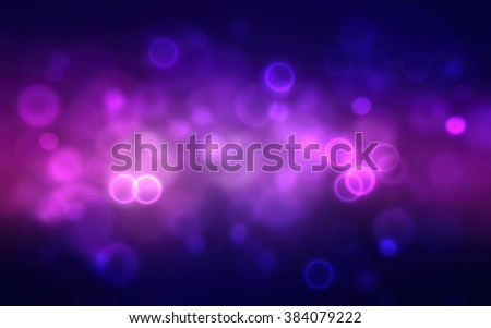 Abstract dark purple festive background with bokeh defocused lights. Full HD1080 seamless looped video here: https://www.shutterstock.com/ru/video/clip-21467512-magenta-blue-circle-bokeh-light-on-dark #384079222