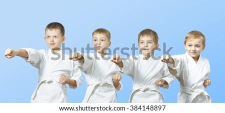With white belt athletes beat punch arm #384148897