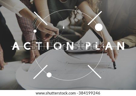 Action Plan Strategy Vision Planning Direction Concept Royalty-Free Stock Photo #384199246