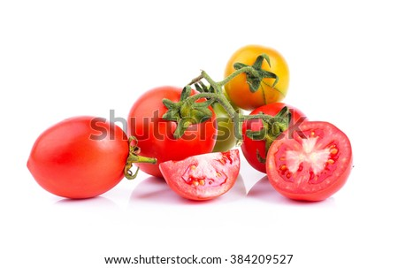 tomato on white background #384209527