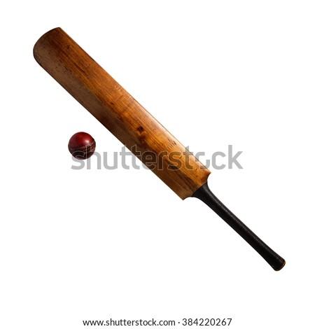 Bat and ball Cricket #384220267