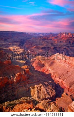 Amazing Sunrise Image of the Grand Canyon  #384285361