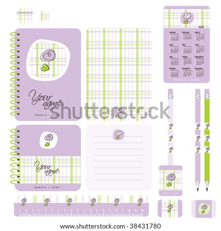 Design elements for notebook and other school accessories #38431780