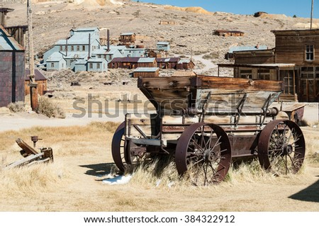 Bodie State Historic Park,  ghost town in the Bodie Hills, Mono County, California, United States. Royalty-Free Stock Photo #384322912