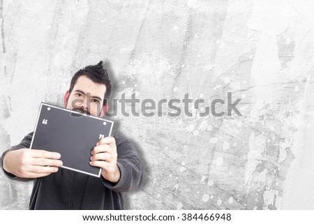 Guy making funny gestures #384466948