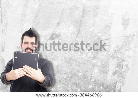 Guy making funny gestures #384466966