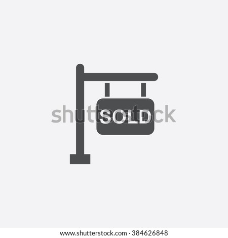 vector sold sign Icon