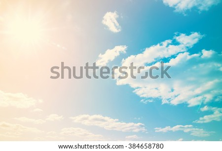 clouds in the blue sky Royalty-Free Stock Photo #384658780