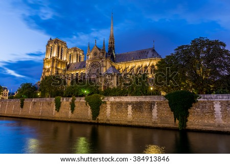 Notre Dame Cathedral in Paris, France #384913846