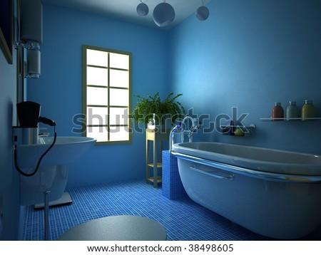 3d rendering of the modern bathroom #38498605