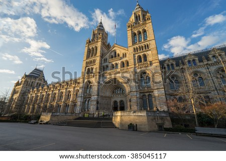 Natural History Museum of London, United Kingdom Royalty-Free Stock Photo #385045117