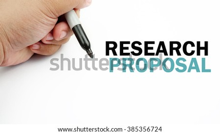 "Handwriting of word that related to business "" research proposal proposal ""             #385356724"