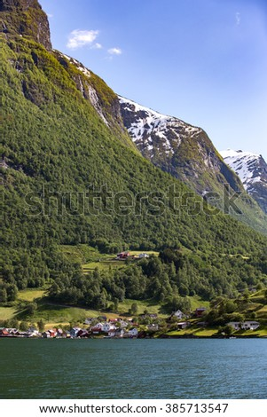 Landscape in Flam, Norway. #385713547
