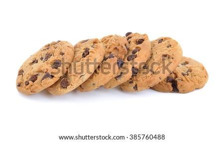 raisin cookies isolated on white #385760488